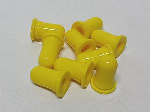 Bulbo de Silicone para Conta Gotas 25unid Amarelo
