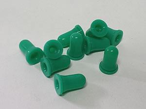 Bulbo de Silicone para Conta Gotas 25unid Verde Folha