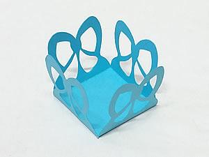Caixeta Laço J-77 24unid Azul Turquesa / Tiffany