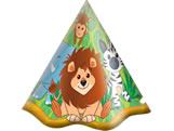 Chapéu Zoo Safari 08unid Festcolor, Medidas: 14 x 14 x 16 cm