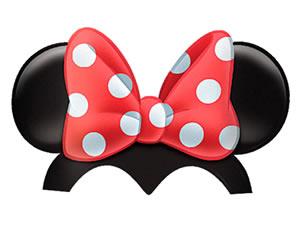 Chapéu de Aniversário Red Minnie 08unid Regina Festas, Medidas: 14 x 14 x 15 cm