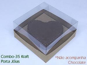 Caixa de Acetato Choco Combo-35 KRAFT Caixa para Porta Joia de Chocolate 150g Ref.43 BWB