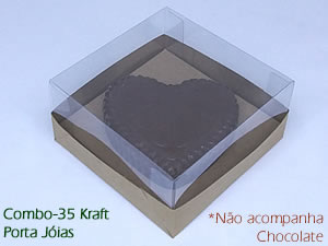 Choco Combo-35 KRAFT Caixa para Porta Joia de Chocolate 150g Ref.43 BWB