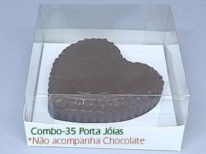 Choco Combo-35 Caixa para Porta Joia de Chocolate 150g Ref.43 BWB