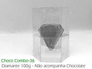 Choco Combo-36 Caixa para Ovo Diamante 100g de Chocolate Pequeno Ref.1416 BWB