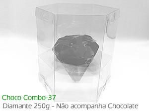 Choco Combo-37 Caixa para Ovo Diamante 250g de Chocolate Médio Ref.1411 BWB