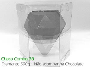 Choco Combo-38 Caixa para Ovo Diamante 500g de Chocolate Grande Ref.852 BWB