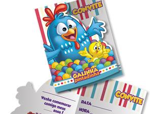 Convite de Aniversário Galinha Pintadinha Diversão 08unid Festcolor