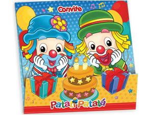 Convite de Aniversário Patati Patatá Parabéns 08unid Festcolor