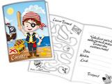 Convite de Aniversário Pirata Kids 08unid Festcolor