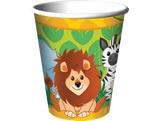 Copo de Papel Zoo Safari 08unid Festcolor, Medidas: 7 x 5 x 8 cm