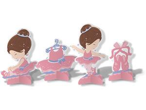 Decoração de Mesa Bailarina 08unid Festcolor