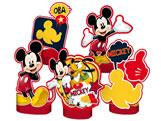 Decoração de Mesa Mickey Classico 05unid Regina Festas, Medidas: 28.1 x 24.9 cm