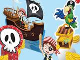 Decoração de Mesa Pirata Kids 08unid Festcolor