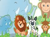 Decoração de Mesa Zoo Safari 08unid Festcolor, Medidas: 20 x 28 x 1 cm