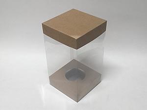 Choco Combo-17 KRAFT Caixa Páscoa 500g, Medidas: 12.2 X 12.2 X 22 cm