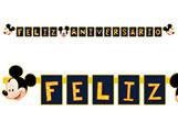 Faixa Feliz Aniversário Mickey Classico 01unid Regina Festas