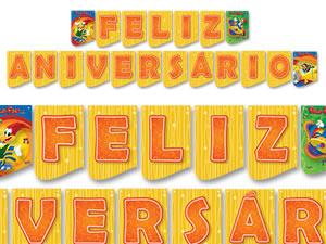 Faixa Feliz Aniversário Pica Pau Festcolor