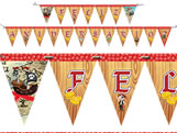 Faixa Feliz Aniversário Pirata Kids Festcolor