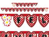 Faixa Feliz Aniversário Red Minnie 01unid Regina Festas