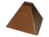 Forma Bombom Pirâmide 10g Ref.9526 BWB, Medidas: 24 x 18.5 x 2 cm