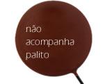 Forma Pirulito Redondo Grande 72g Ref.9465 BWB, Medidas: 24 x 18.5 x 0.7 cm