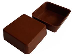 Forma com Silicone Chocolate de Colher Quadrado 56g Ref.9547 BWB