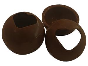 Forma com Silicone Esfera com Coração 30mm 3cm 9g Ref.9451 BWB