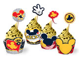 Forminha Wrapper para Cupcake Mickey Classico 12unid Regina Festas