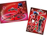 Kit Decorativo Miraculous Ladybug c/ 1 Painel e 12 Enfeites Regina