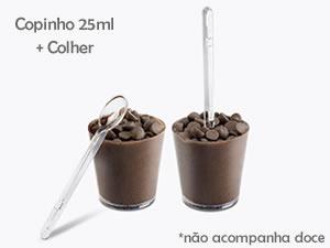 Kit Gourmet - Copo Pic 25ml + Colher Piccolo 10und Plastilânia