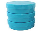 Latinha Azul Pote Sólido Ref.9504 BWB, Medidas: 5.4 x 5.4 x 1.8 cm