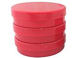 Latinha Vermelha Pote Sólido Ref.9508 BWB, Medidas: 5.4 x 5.4 x 1.8 cm