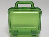Maleta Verde Acrilica Quadrada Translucida, Medidas: 12 x 7 x 13 cm