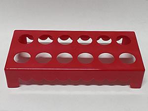 Mesa para Tubete 1unid com 12 cavidades Vermelha