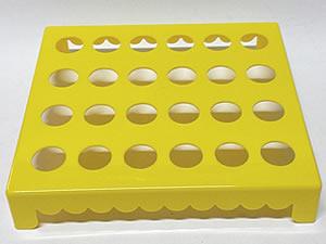 Mesa para Tubete 1unid com 24 cavidades Amarela