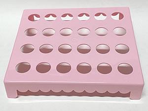 Mesa para Tubete 1unid com 24 cavidades Rosa