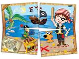 Painel para Decoração Pirata Kids 4 Lâminas Festcolor
