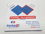 Papel Chumbo Aluminio 16x15cm Azul Claro, Medidas: 16 x 15 x 1 cm