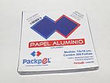 Papel Chumbo Aluminio 16x15cm Azul Escuro