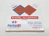 Papel Chumbo Aluminio Laranja 16x15cm 300fls
