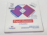 Papel Chumbo Aluminio 16x15cm Lilas, Medidas: 16 x 15 x 1 cm