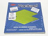 Papel Chumbo Aluminio 16x15cm Verde Cana, Medidas: 16 x 15 x 1 cm