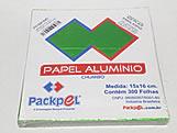 Papel Chumbo Aluminio 16x15cm Verde