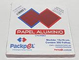 Papel Chumbo Aluminio 16x15cm Vermelho, Medidas: 16 x 15 x 1 cm