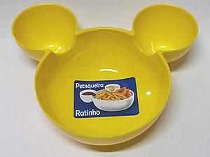 Petisqueira Ratinho Pote de Plástico 14cm 1unid Amarela
