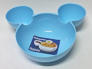 Petisqueira Ratinho Pote de Plástico 14cm 1unid Azul