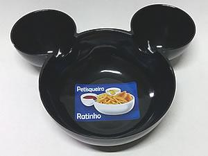 Petisqueira Ratinho Pote de Plástico 14cm 1unid Preta