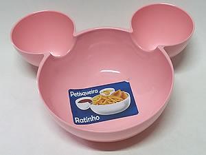 Petisqueira Ratinho Pote de Plástico 14cm 1unid Rosa