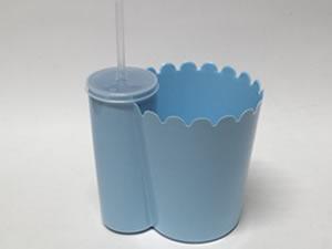 Pipofri Balde de Pipoca 1Litro com Copo 300ml Azul Claro 1unid